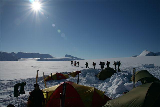 Basislager am Gallerbreen, Spitzbergen 0510